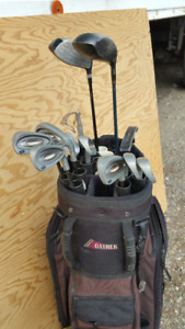 "SPECTRA ""CERAMIC SERIES"" GOLF CLUBS  WITH BAG."
