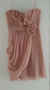 Gorgeous BCBG Strapless Dress With Rosettes Size 4