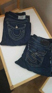 Women's jeans! True religion and silver jeans!