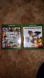 Xbox one grand theft auto 5 and overwatch