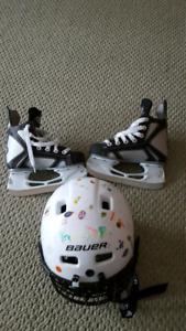 Skates and Helmet