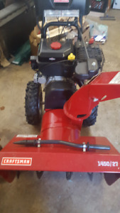 "Snowblower Craftsman 27""  not much used - like new"