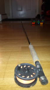 Set fishing, fly rod and associated.