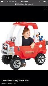 Cozy coupe fire truck pump and spray