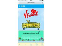2x tickets V festival with RED camping