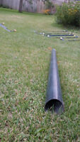83 inches LONG x 3 inches WIDE HEAVY DUTY METAL PIPE BLACK