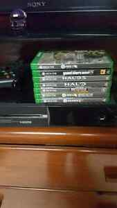 Xbox one  500g with 9 games 2 on system and one contoller