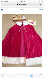 PRINCESS CAPE AND CROWN COSTUME SIZE M/L - Pottery Barn Kids