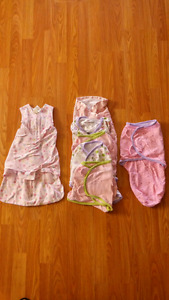 New condition 6 swaddlers and 1 sleep sack