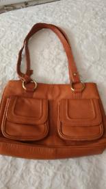 Real leather tan Lloyd baker handbag