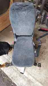 center seat with fold down console