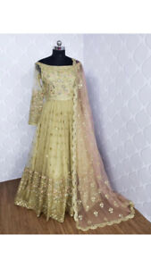 Gold Hand Embroidered Anarkali Gown