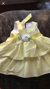 Yellow dress Size 12-18 months