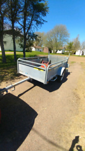 Galvanized utility trailer