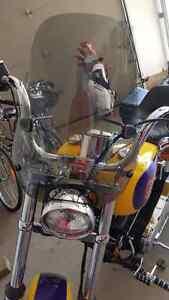 Harley Davidson Wideglide windshield