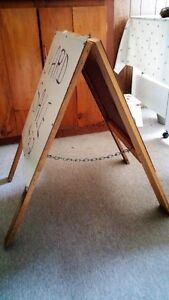 DOUBLED SIDED HINGED WHITE BOARD EASEL - REDUCED PRICE Belleville Belleville Area image 2
