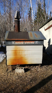 Out door wood stove