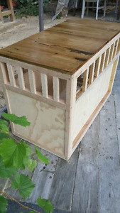 End Table/Dog Kennel Combination