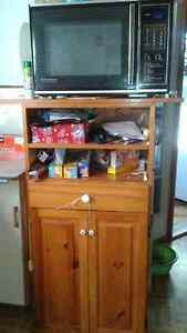 Solid pine kitchen table, chairs, and stand. St. John's Newfoundland image 4