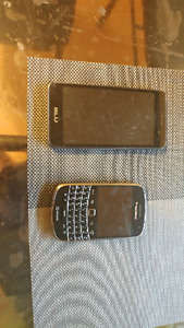 Selling a blu and black berry phone
