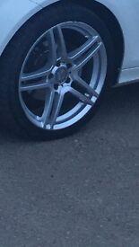 "Mercades amg alloywheels w204 18"""