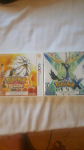 Pokemon sun and Pokemon x