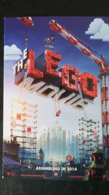 SDCC Comic Con 2013 Handout  The Lego Movie lobby promo card