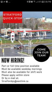 Part & Full Time Cashier Positions