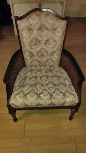 Chaise fauteuil tressé