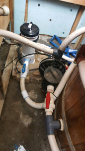 Hot tub / pool pump filter and heater controller