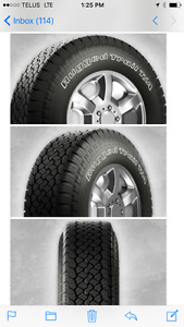 New Removed LT245 75R 17 BFG All Terrain 10 Ply Tires