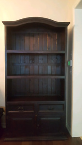 Dark espresso finish bookcase