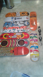 9 brand new decks or complete skateboard must see