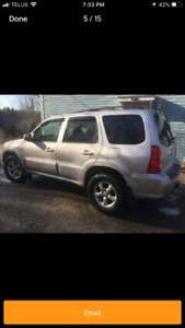 2005 mazda tribute AWD GT sell or trade for car