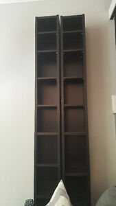 2 Gently Used Black DVD Towers