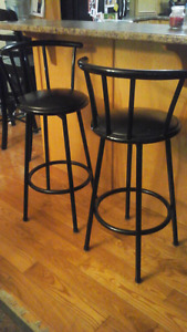 Metal Bar Chairs (set of 3)
