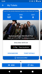 Backstreet Boys - Amex Reserved Seats!!! - Section 107