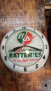 RARE double bulle horloge B/A Double Bubble Advertising Clock