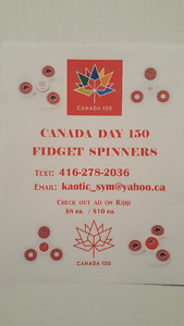 Canada Day Themed Spinners