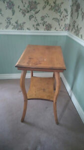 antique sidetable