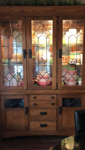Solid wood buffet and hutch, Excellent Condition.