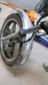 1980 honda cb400 front fender chrome