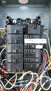100 amp panel with breakers