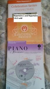 Piano and voice books of various levels