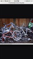 I'm looking for scrap bicycles
