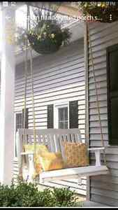 Beautiful  custome hand crafted porch swing Stratford Kitchener Area image 2