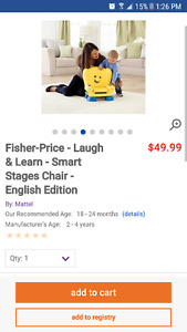 Fisher price learn smart chair
