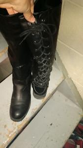 Leather boots,vans