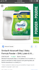 Similac step one and two $35