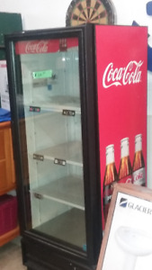 Coke stand up fridge